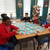 Fifth grade makes blankets for Project Linus