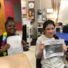 Middle school reads to elementary students